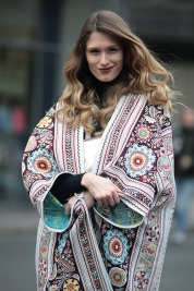 Street Style during day 3 of London Fashion Week AW 2017, on Sunday 19th February 2017.