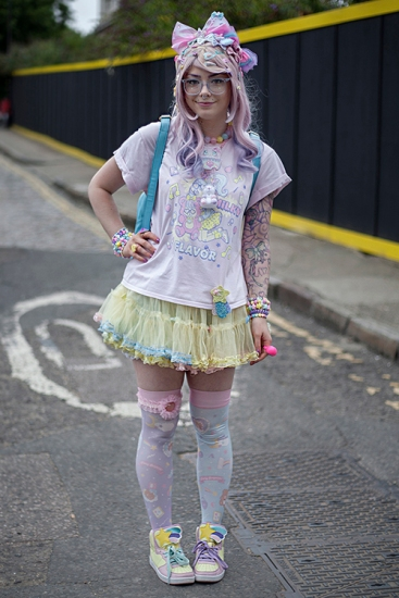 Street style at Hyper Japan 2017, Tobaco Dock, Docklands, London July 15th 2017.