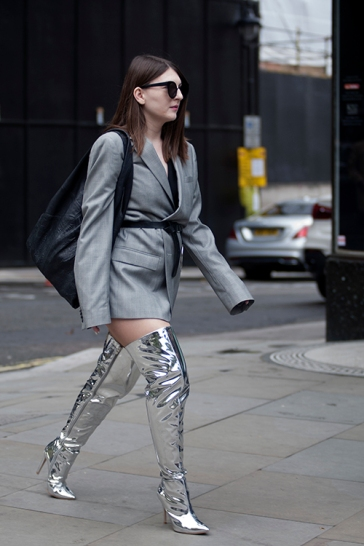 Street Style from Day five of London Fashion Week, Spring Summer 2018, on Tuesday September 19th 2017.