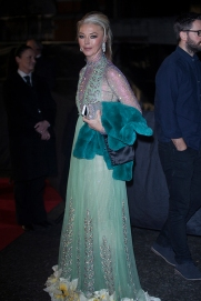 Arrivals at The British Fashion Awards 2017, held at The Royal Albert Hall in London, Monday December 4th 2017. Image shows socialite Tamara Beckwith in a dress by Gucci.
