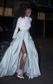 Arrivals at The British Fashion Awards 2017, held at The Royal Albert Hall in London, Monday December 4th 2017. Image shows model Winnie Harlow.