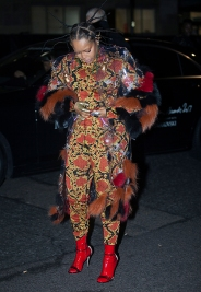 Arrivals at The British Fashion Awards 2017, held at The Royal Albert Hall in London, Monday December 4th 2017. Image shows singer Erykah Badu