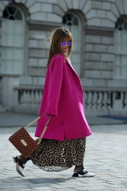 Street Style on the first full day of London Fashion Week SS 2019, on Friday 14th 2018.