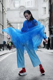 Street Style on the second full day of London Fashion Week SS 2019, Saturday 15th 2018.