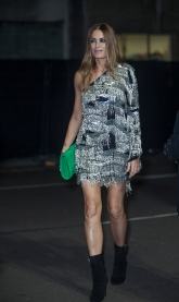 Guests arrive at The Fashion Awards 2018 by the BFC and sponsored Swarovski, and held at the Royal Albert Hall in London on December 10th 2018. Image shows model Yasmin Le Bon