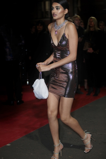 Guests arrive at The Fashion Awards 2018 by the BFC and sponsored Swarovski, and held at the Royal Albert Hall in London on December 10th 2018. Image shows model Neelam Gill