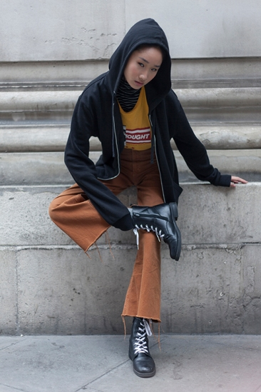 Street Style during day two of London Fashion Week AW 2019.