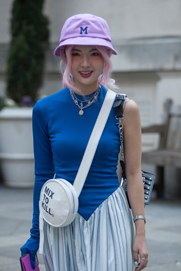 Street Style during day one of London Fashion Week AW 2019.