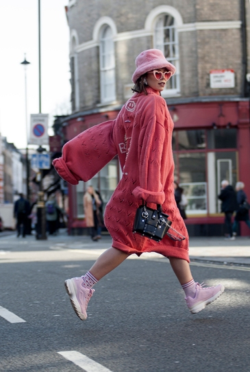 Street Style during day three of London Fashion Week AW 2019.
