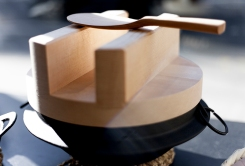 Japanese Kitchenwear from KAMA ASA seen at the Sway Gallery, Old Street, london on May 2019. Image shows a traditional rice cooker