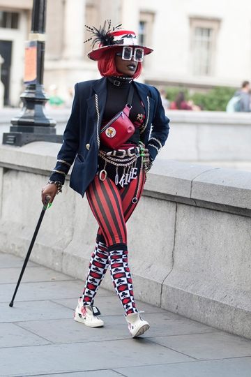 Street Style on day one of London Fashion Week SS 2020, outside Canada House in Trafalgar Square on Thursday September 12th 2019.