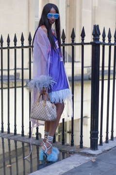 Street Style on day one of London Fashion Week SS 2020, outside Canada House in Trafalgar Square on Thursday September 12th 2019. Image shows Rachael Brousard from the USA.