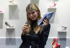 NICHOLAS KIRKWOOD x CLOS19 exclusive event held at the designer's UK showroom, in the heart of London's Mayfair on November 28th. Image shows personally customised luxuary shoes, from Award winning designer Nicholas Kirkwood.