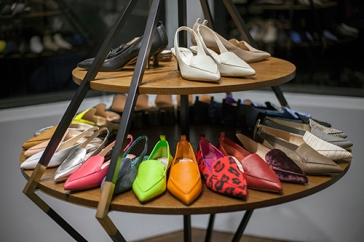 NICHOLAS KIRKWOOD x CLOS19 exclusive event held at the designer's UK showroom, in the heart of London's Mayfair on November 28th. Image shows luxury shoes from Award winning designer Nicholas Kirkwood.