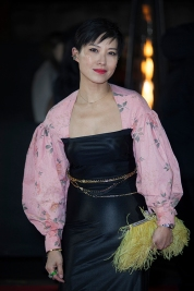 "Red carper arrivals at ""The Fashion Awards 2019"", which took place at The Royal Albert Hall in London, on December 2nd 2019. Image shows luxury shoe brand Jimmy Choo Creative Director Sandra Choi."