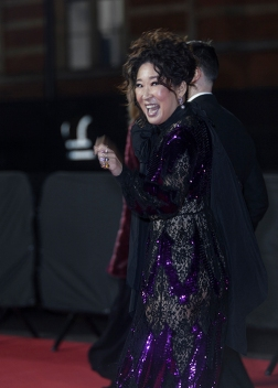 "Red carper arrivals at ""The Fashion Awards 2019"", which took place at The Royal Albert Hall in London, on December 2nd 2019. Image shows actress Sandra Oh."