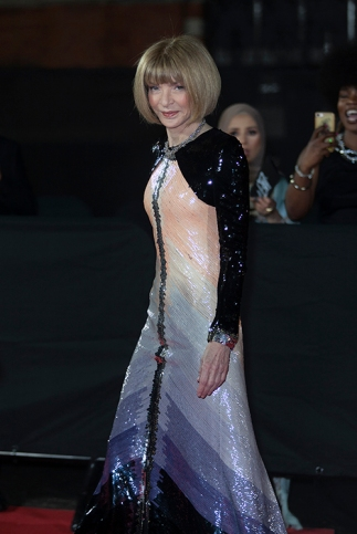 "Red carper arrivals at ""The Fashion Awards 2019"", which took place at The Royal Albert Hall in London, on December 2nd 2019. Image shows Vogue US Editor In Chief Anna Wintour."