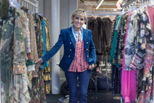Images from SCOOP International Fashion Event on Feb 9th 2020, showcasing designers and brands for the AW 2020 season. Image shows Patricia Forgeal of Amuse Paris.